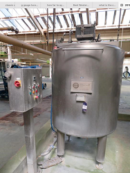 1000 litre jacketed tank